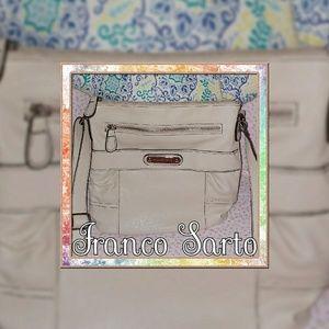 Franco Sarto Cream-Colored Crossbody